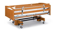 Side rail extension for beds with continous side rails